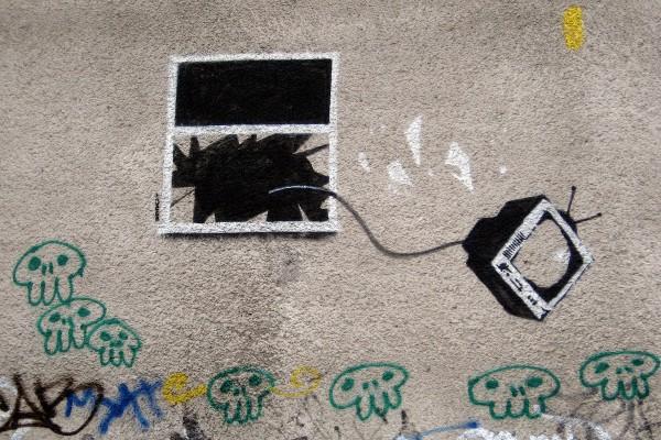 tv window graffiti