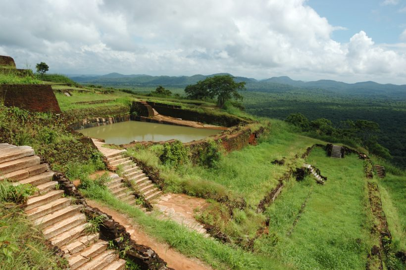 Terraces on the top of Sigiriya - in Sri Lanka