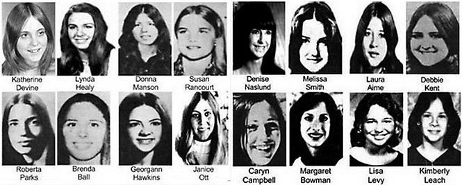 Доказанные жертвы Теда Банди.